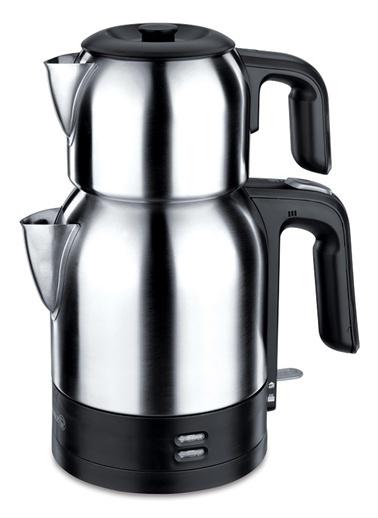 Korkmaz A359 Demkolik Elekt. Çaydanlık Inox/Siyah Gümüş